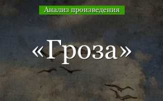 Особенности драмы Гроза Островского