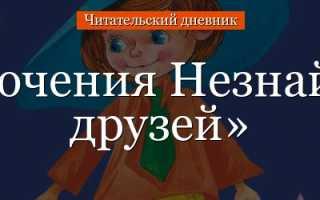 План рассказа Приключения Незнайки и его друзей Н. Носова