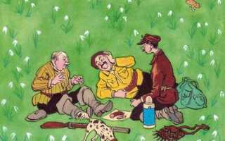План рассказа Три охотника Носова