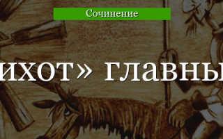 Сочинение Образ Дон Кихота (характеристика героя)