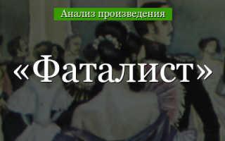 План главы Фаталист романа Герой нашего времени Лермонтова