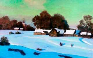 Сочинение по картине Зимний вечер Крымова 6 класс описание описание