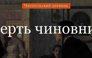 Смерть чиновника – краткое содержание рассказа Чехова (сюжет произведения)