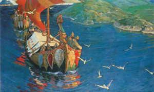 Сочинение по картине Рериха Заморские гости 4 класс описание