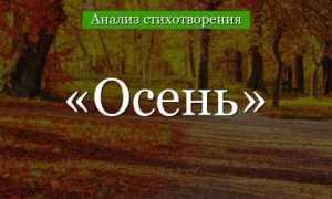 Анализ стихотворения «Осень» Лермонтова