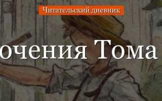 План рассказа Приключения Тома Сойера Марка Твена (4, 5 класс)