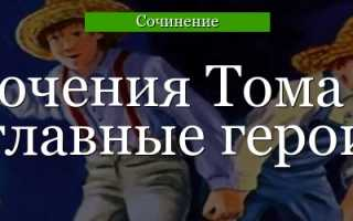 Образ и характеристика Тома Сойера 4 класс